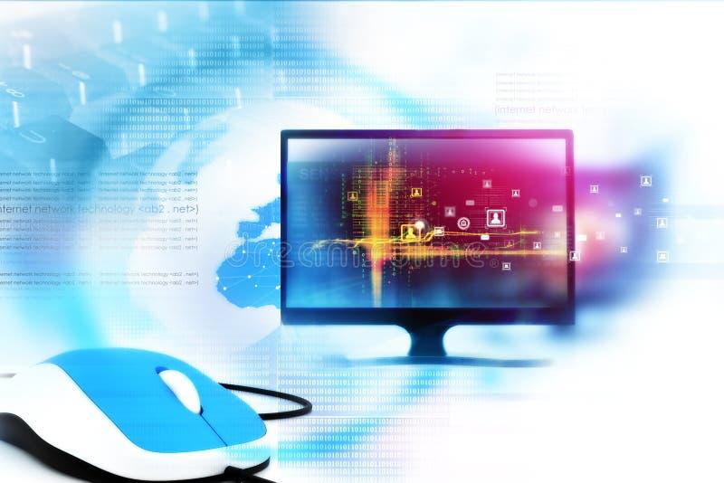 数字互联网技术 向量例证