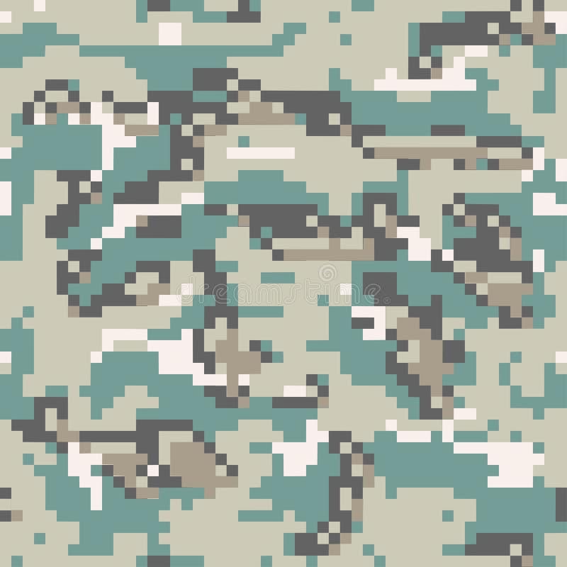 数字伪装样式背景,无缝的传染媒介例证 经典军事camo 向量例证