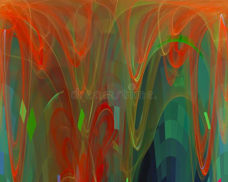 数字分数维概念闪闪发光能量艺术性的纹理样式行动使发光,典雅幻想的设计 皇族释放例证