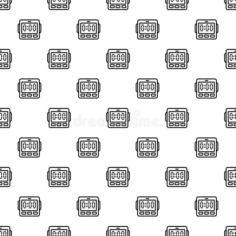 数字厨房无缝定时器的样式 皇族释放例证