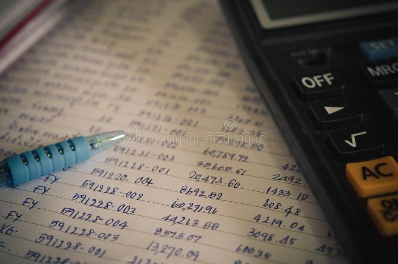 数字和财政计算器 库存图片