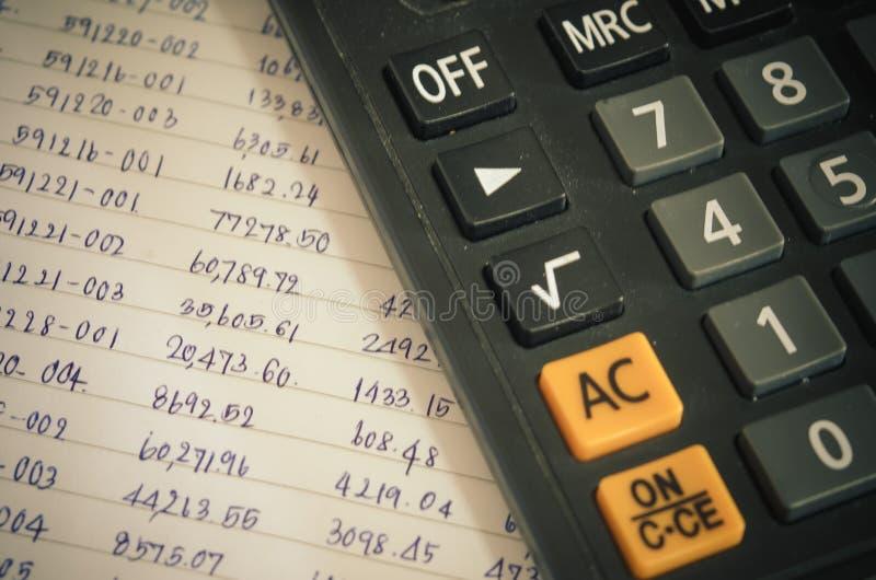数字和财政计算器 免版税库存图片