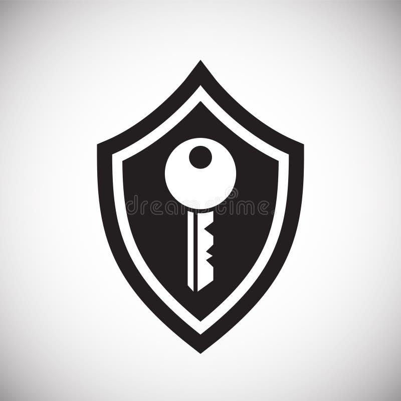 数字在白色背景的安全标志图表和网络设计的,现代简单的传染媒介标志 背景蓝色颜色概念互联网 时髦标志 向量例证