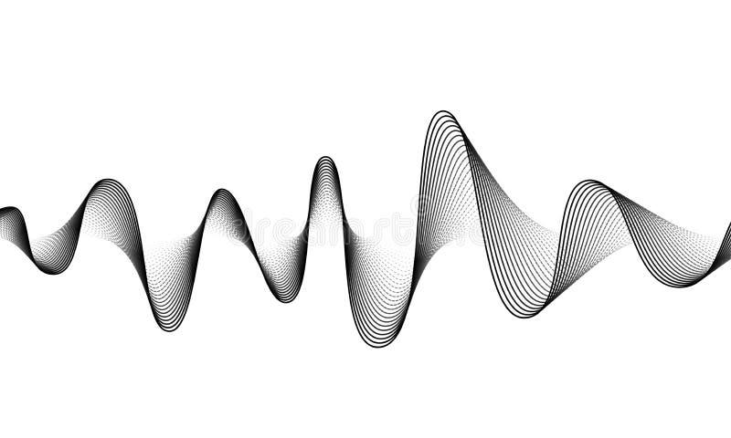 数字声波传染媒介横幅背景 E r 振动敲打 向量例证