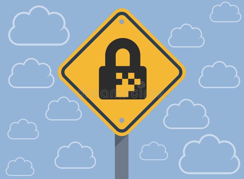 数字安全加密 向量例证
