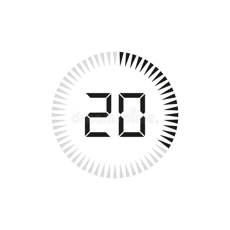 数字定时器、时钟和注意设计 也corel凹道例证向量 库存例证