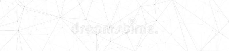 数字导线技术通信、抽象多角形概念、传染媒介线和圈子小点连接了,宽横幅或倒栽跳水 皇族释放例证