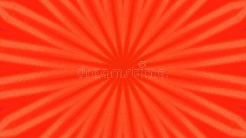 数字带红色花摘要背景红色 库存例证