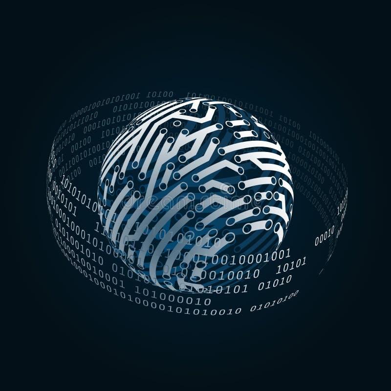 数字式世界和电子连接 皇族释放例证