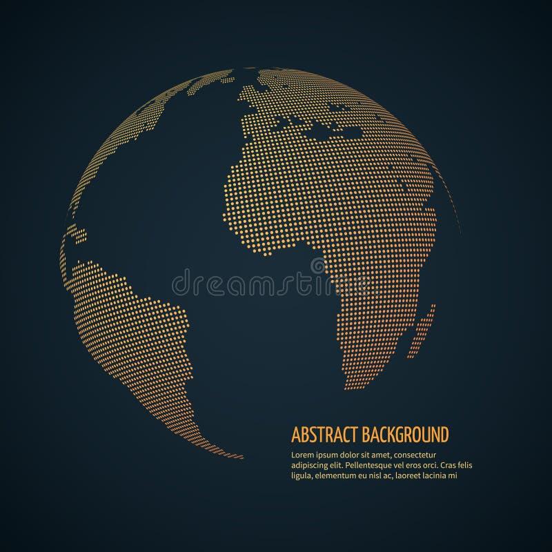 数字式世界地球,网际空间宇宙地球 数据国际性组织,全球化传染媒介概念 库存例证