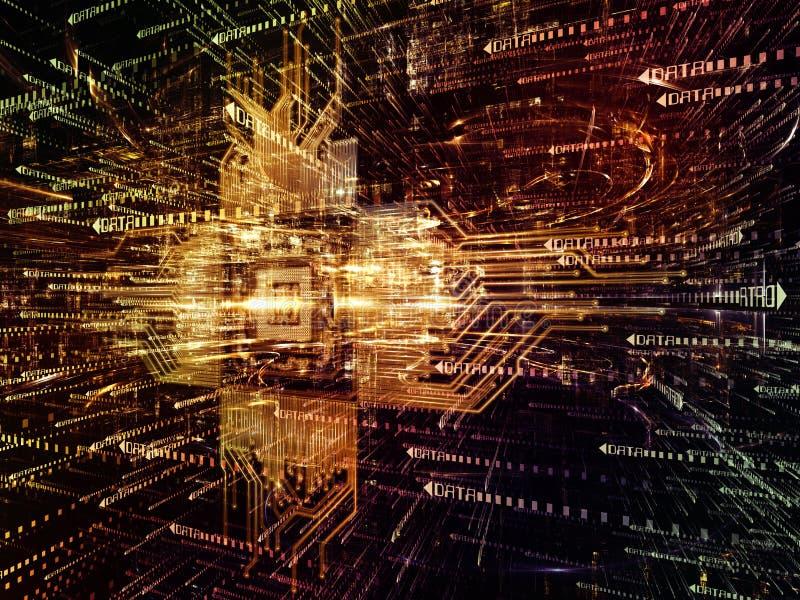 数字式世界的虚拟化 库存例证