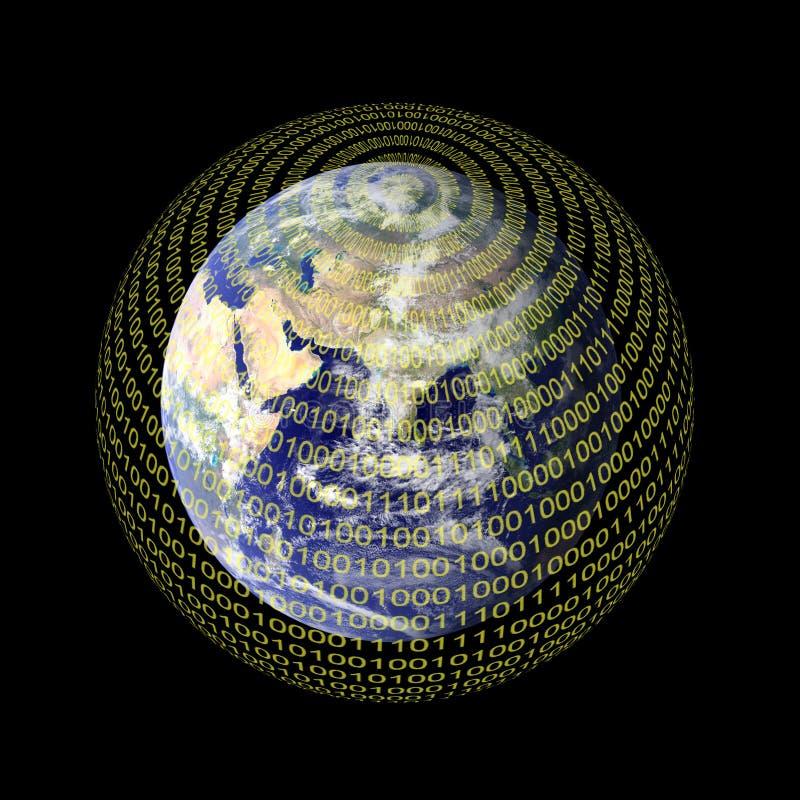 数字式世界 向量例证