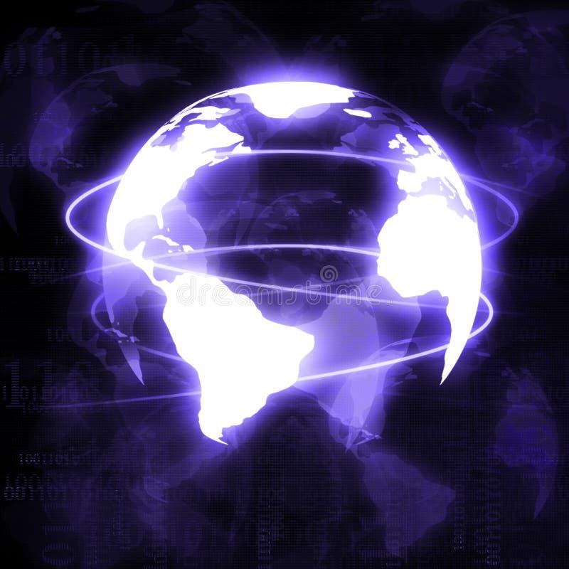 数字式世界 皇族释放例证