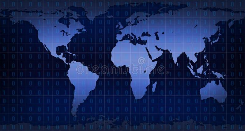 数字式世界 库存例证