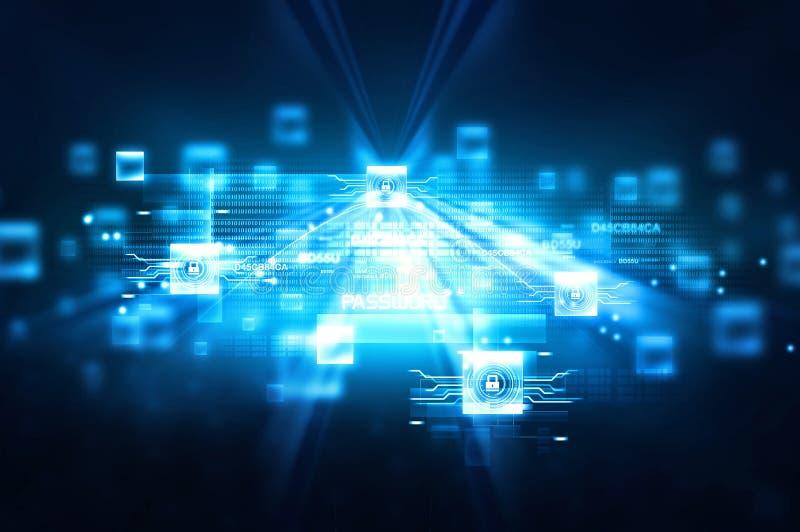 数字式互联网安全 向量例证