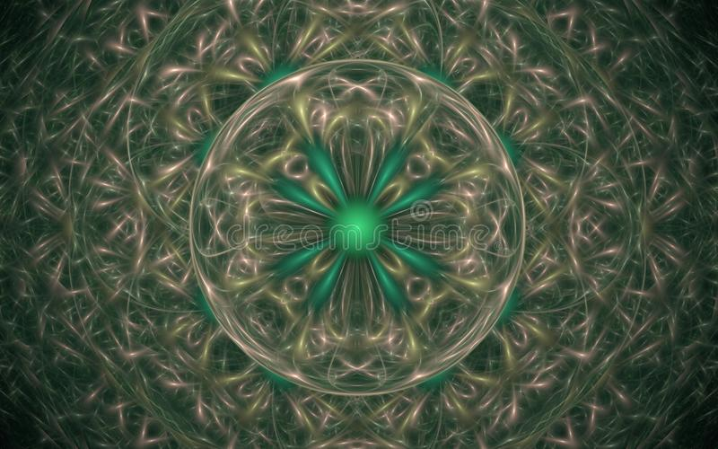 数字式以各种各样的树荫和颜色的形式抽象几何形状的引起的图象用于网络设计和计算机g 库存例证