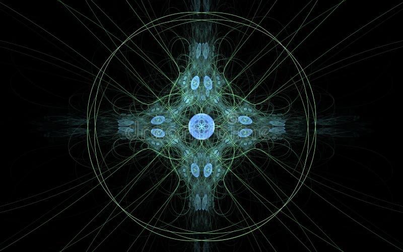 数字式以各种各样的树荫和颜色的形式抽象几何形状的引起的图象用于网络设计和计算机g 皇族释放例证