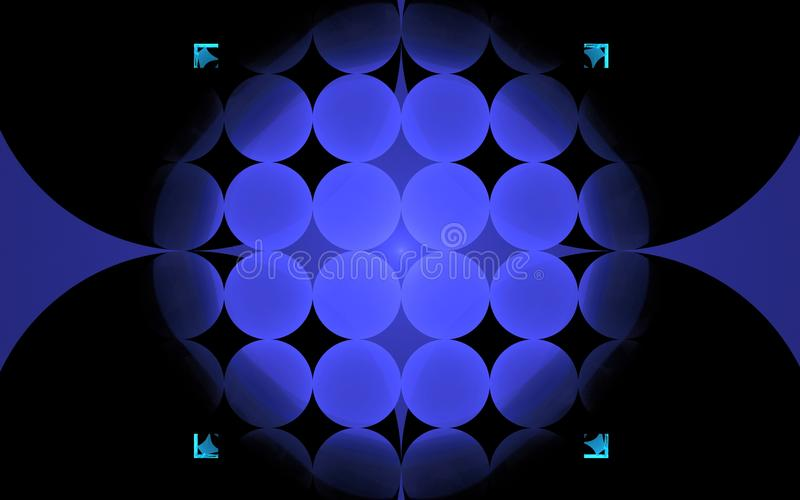 数字式以各种各样的树荫和颜色的形式抽象几何形状的引起的图象用于网络设计和计算机g 向量例证