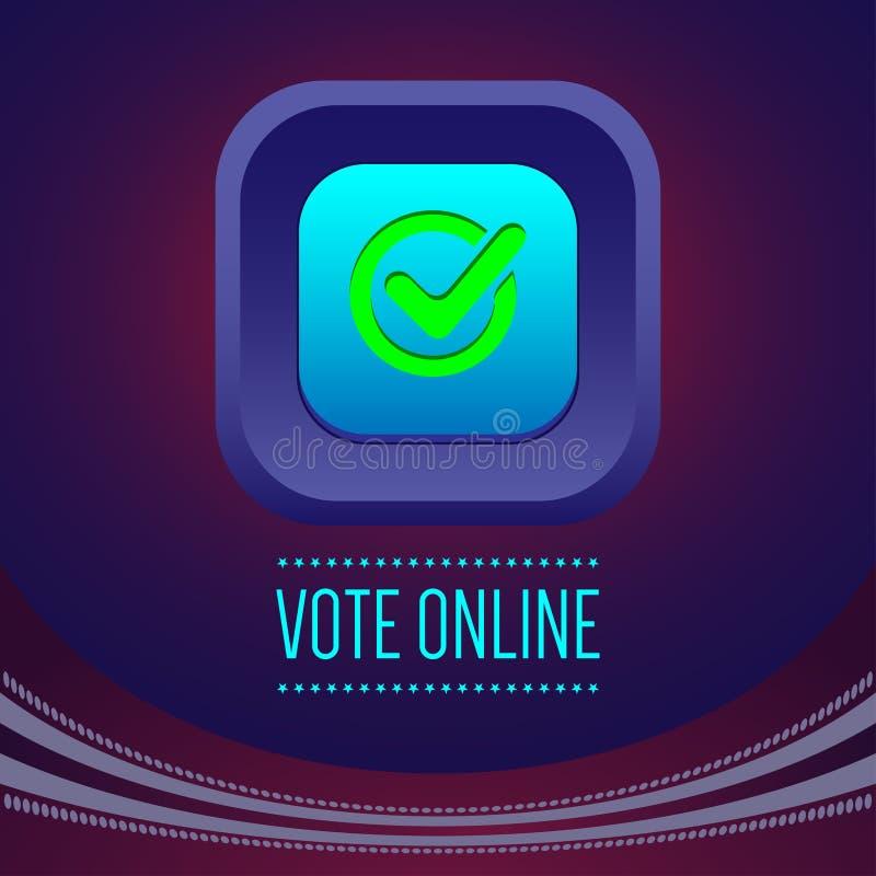数字式传染媒介与网上表决的美国竞选 库存例证