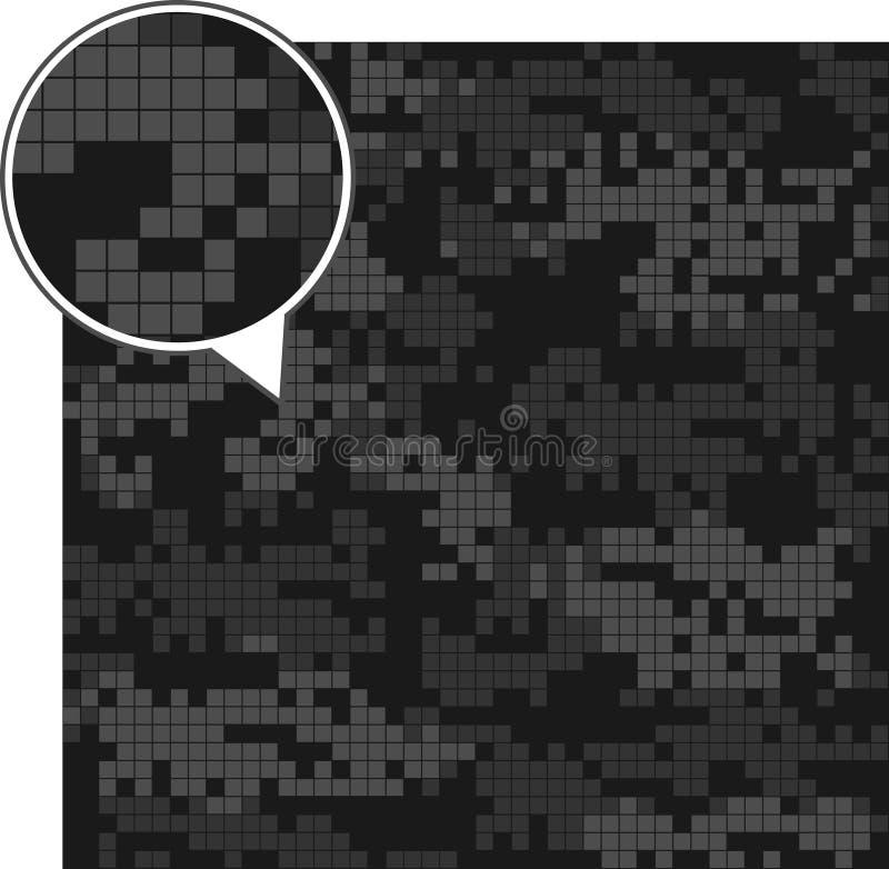 数字式伪装无缝的样式 库存例证