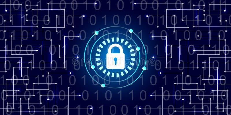 数字式保护和安全 皇族释放例证