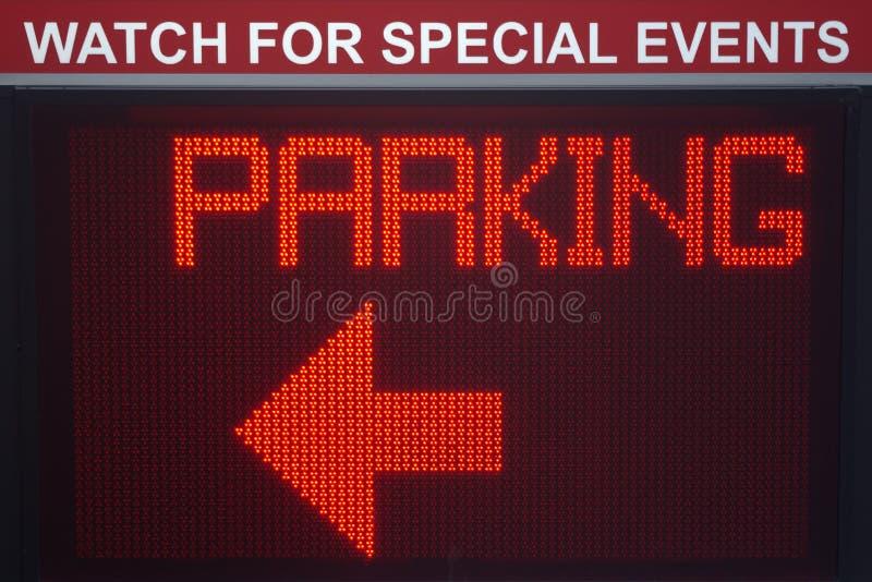 数字式停车符号 库存照片