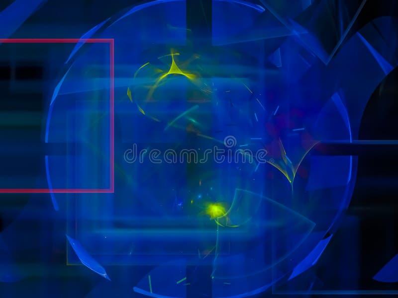 数字式分数维,抽象样式梦想设计科学背景现代形状设计,党,纹理奥秘卡片 向量例证