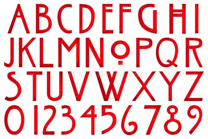 数字式剪贴薄字母表恐怖故事 库存例证
