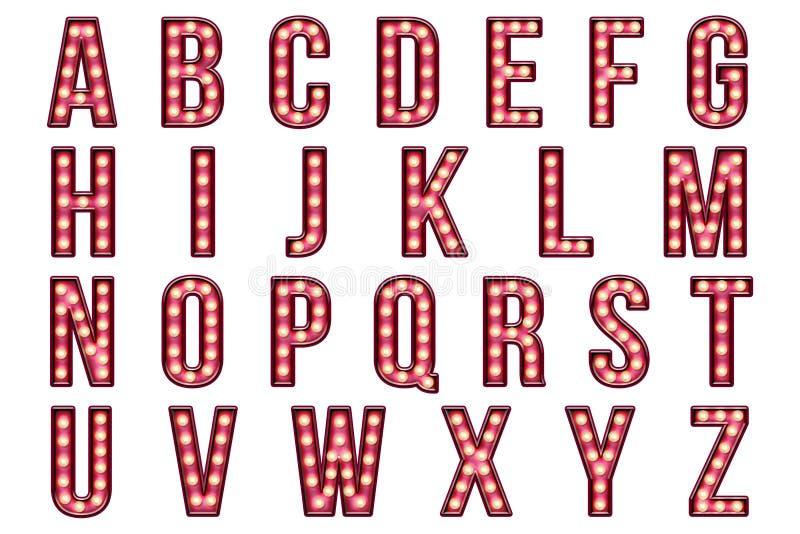 数字式剪贴薄字母表滑稽表演大门罩 向量例证