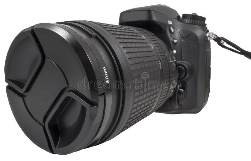 数字式单镜头反光照相机 库存图片