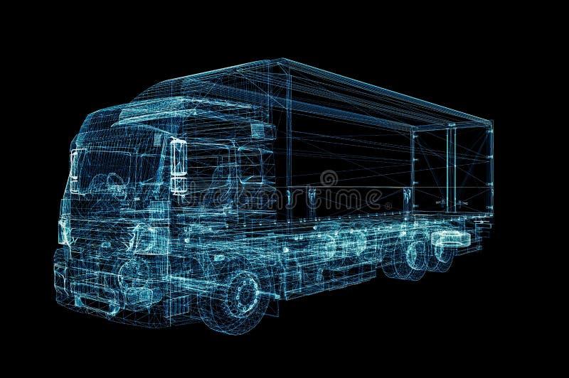 数字式卡车 数字技术的概念 库存例证