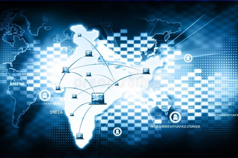 数字式印度 向量例证