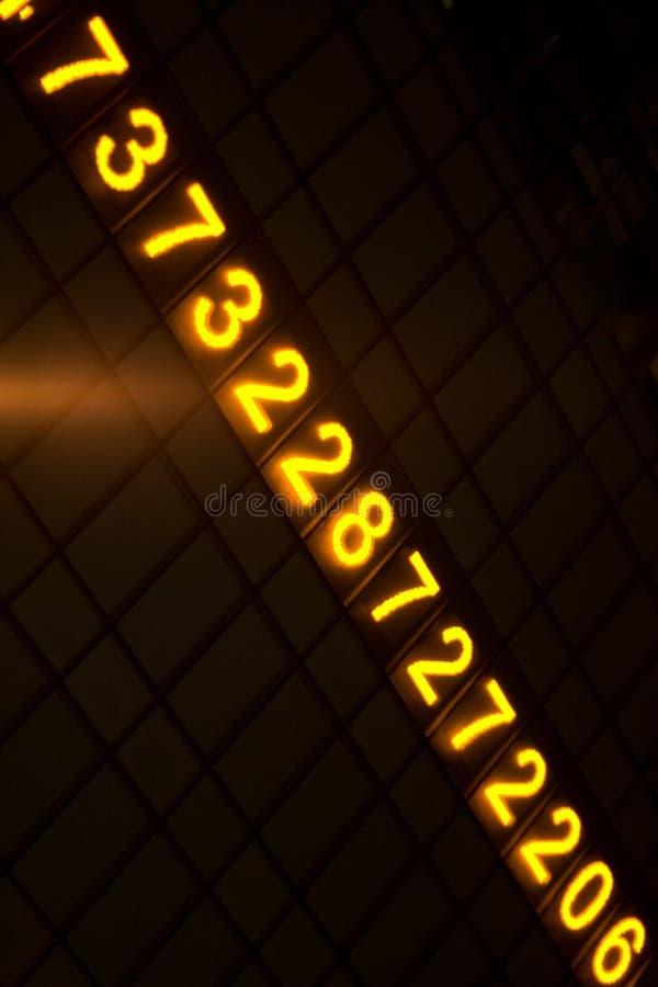数字式发光的编号 库存图片