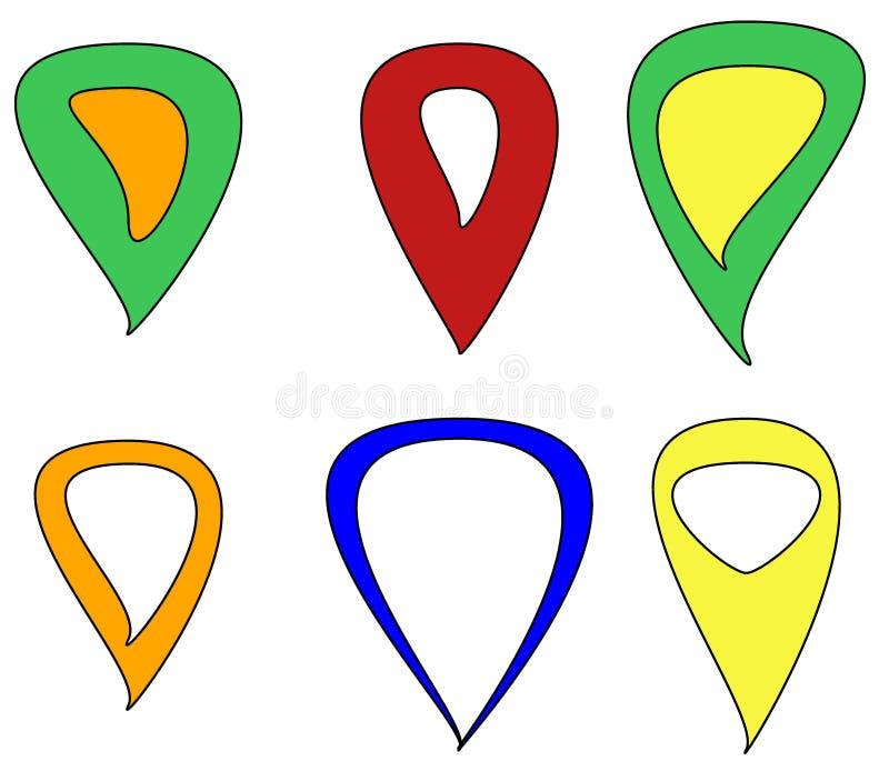 数字式地图事务的尖 皇族释放例证