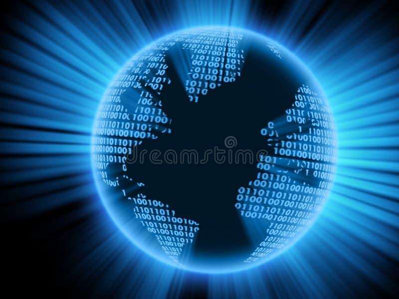 数字式地球 向量例证