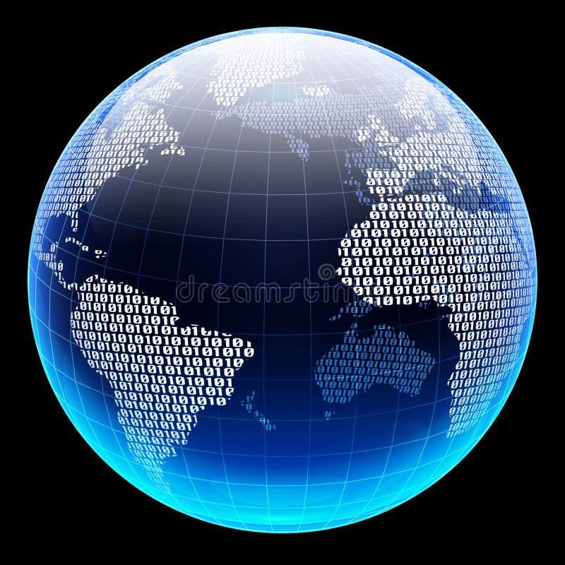 数字式地球 皇族释放例证