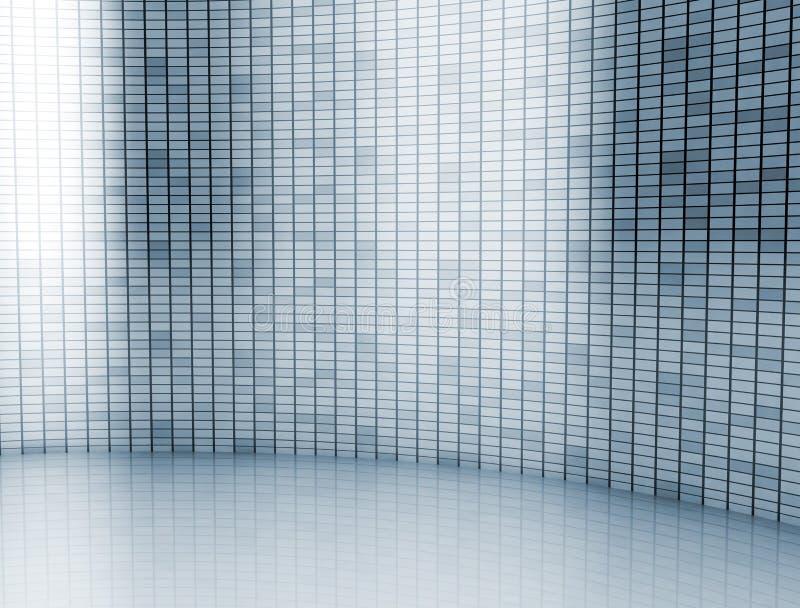 数字式墙壁 库存例证