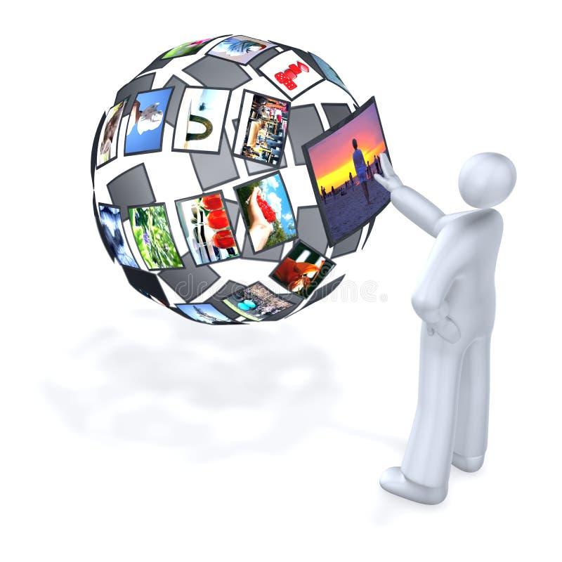数字式多媒体世界 向量例证