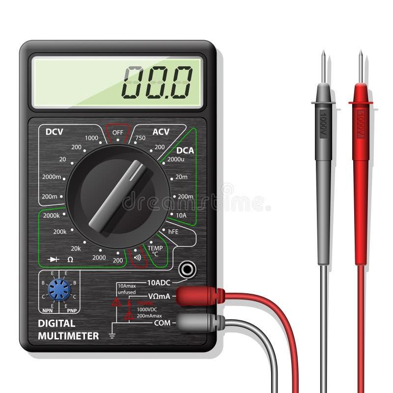 数字式多用电表 向量例证