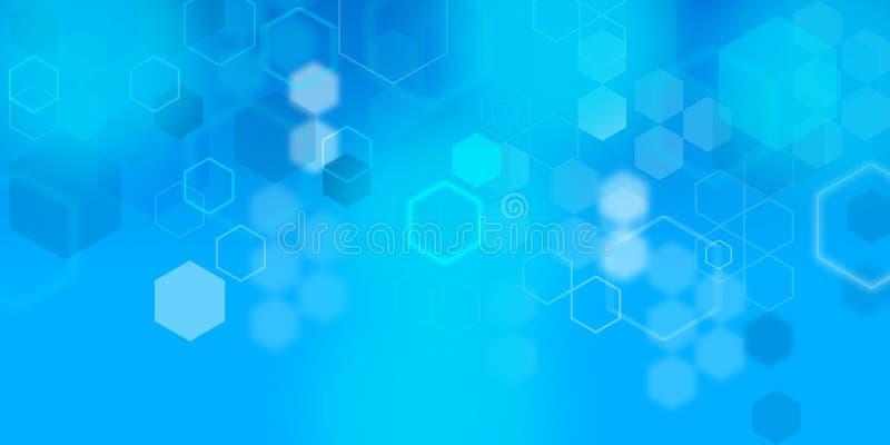 数字式多角形背景墙纸横幅 向量例证