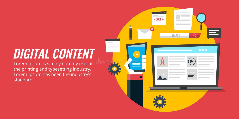 数字式媒介营销,数量促进,网络内容战略 平的设计传染媒介横幅