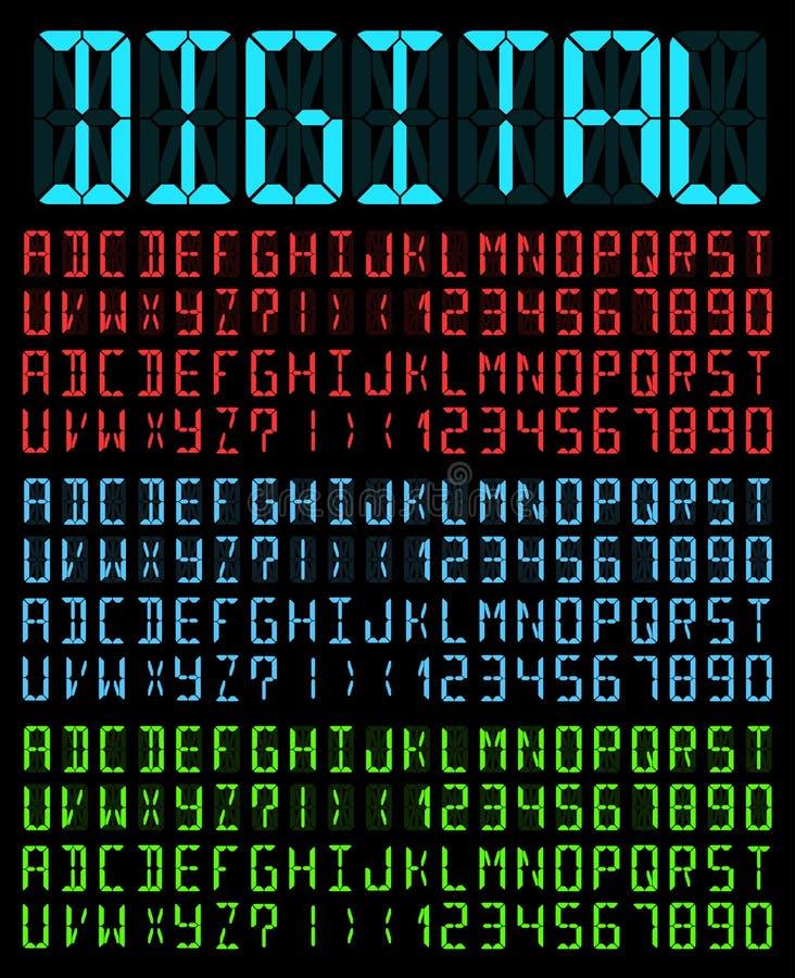 数字式字体 向量例证