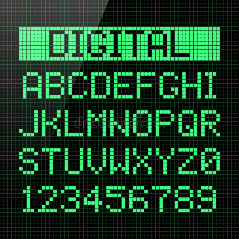 数字式字体 皇族释放例证