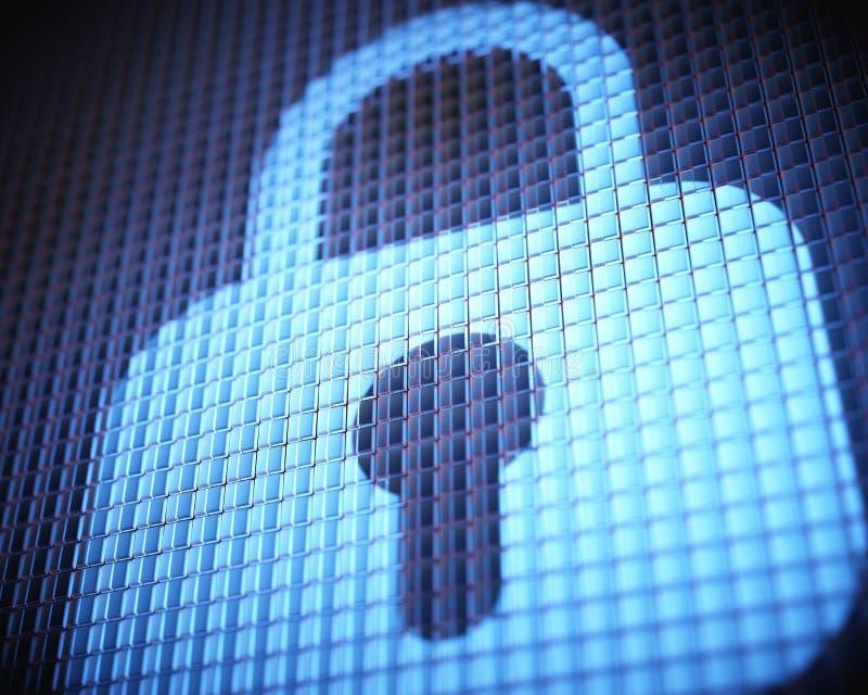数字式安全挂锁 免版税库存照片
