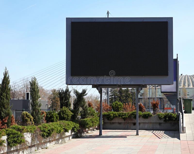 数字式广告牌 免版税图库摄影