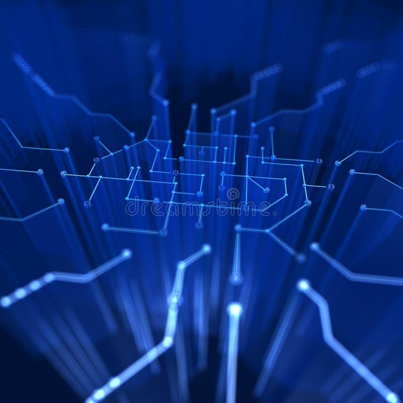 数字式微型电路 库存例证
