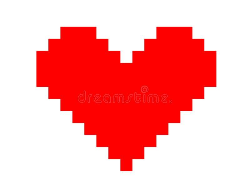 数字式心脏和爱 库存例证