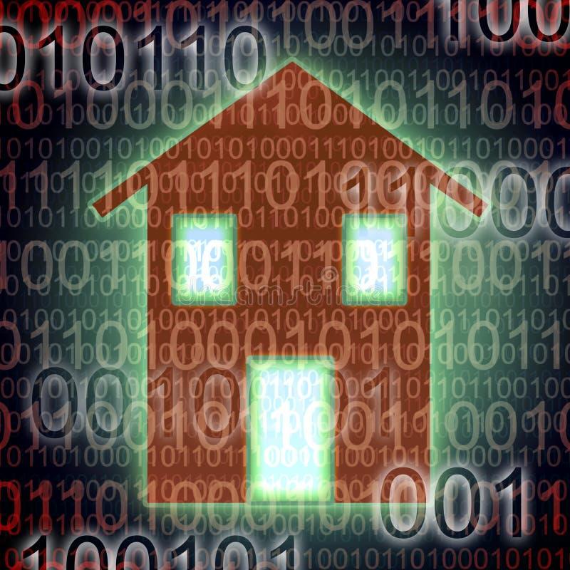 数字式房子概念图象 库存例证