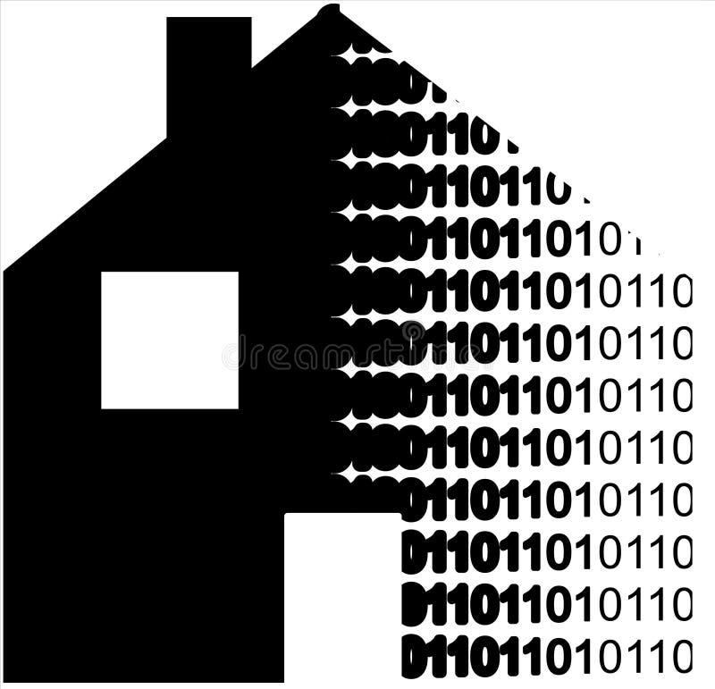 数字式房子 向量例证