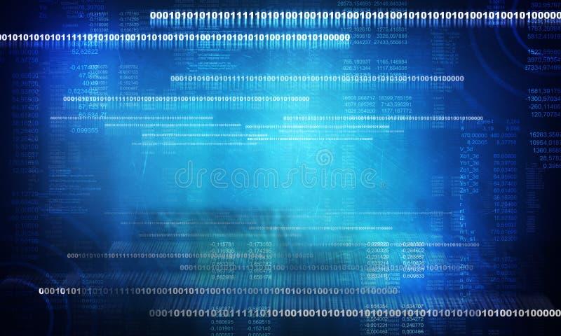 数字式抽象位数据放出,网络样式 库存例证